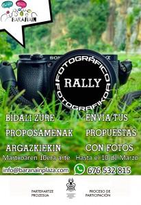 Cartel Rally fotográfico